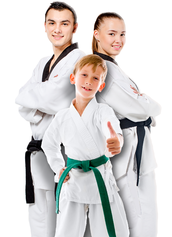 group of karate students