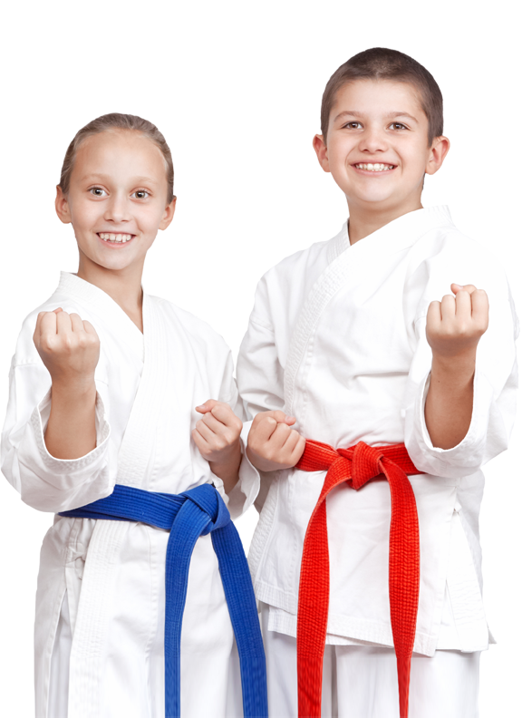 two kids enjoying martial arts